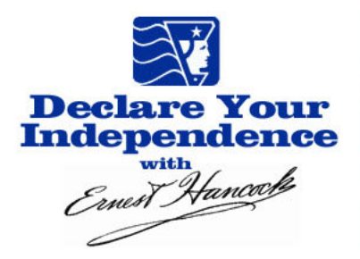 Declare-Your-Independence-with-Ernest-Hancock---Radio-Show-Logo